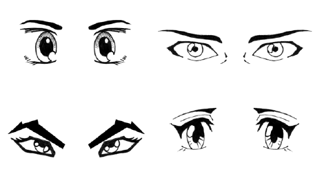 cartoon eyes drawing. teach how to draw eyes