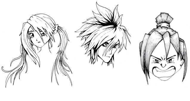 stuck wondering how to draw Manga hair in a variety of different hair ...